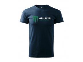 tmavomodré tričko monster 2
