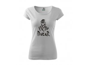 dámske tričko dakar biele