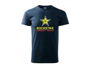 tmavomodré tričko rockstar