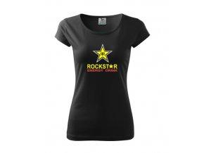 dámske tričko rockstar čierne