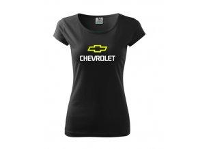 dámske tričko chevrolet čierne
