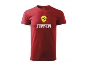 tričko červené ferrari