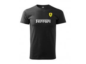 čierne tričko ferrari 2