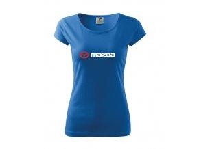 dámske tričko mazda modré