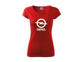 dámske tričko opel červené