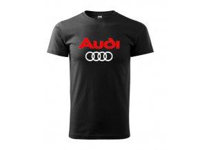 čierne tričko Audi