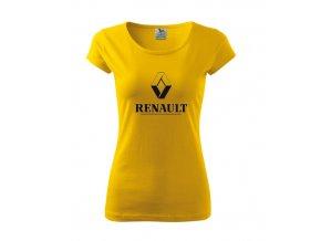 dámske tričko renault žlté