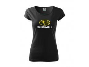 dámske tričko subaru čierne