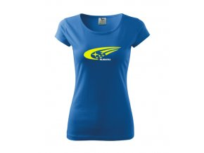 dámske tričko subaru modré 3