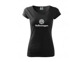dámske tričko volkswagen čierne