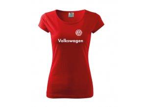 dámske tričko volkswagen červené 2