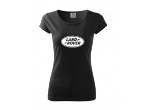 dámske tričko land rover čierne