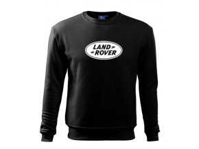 mikina land rover čierná