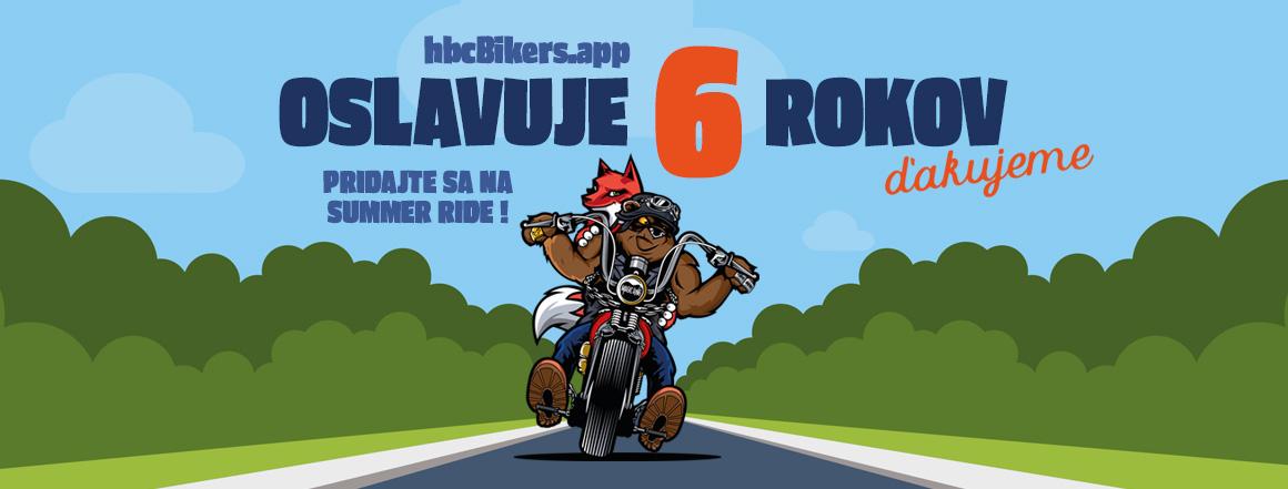 HBC Bikers App oslavuje 6 rokov