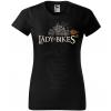 the lady of the bikes damske moto tricko kratky rukav cierne