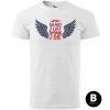 too fast with wings panske moto tricko kratky rukav biele