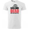 rolling dead panske moto tricko kratky rukav biele