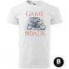 game of road supersport panske moto tricko kratky rukav biele