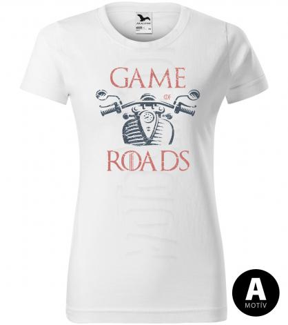 game of road chopper damske moto tricko kratky rukav biele