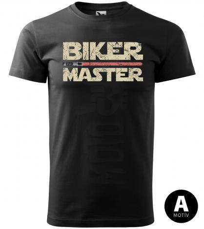 master biker red sword panske moto tricko kratky rukav cierne
