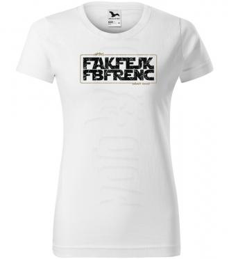 fak fejk fb frenc damske moto tricko kratky rukav biele