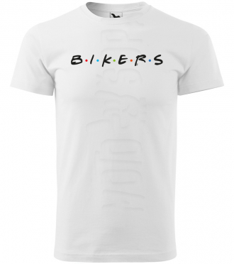 bikers panske moto tricko kratky rukav biele