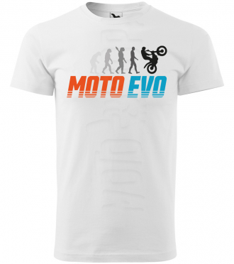 moto evolution panske moto tricko kratky rukav biele