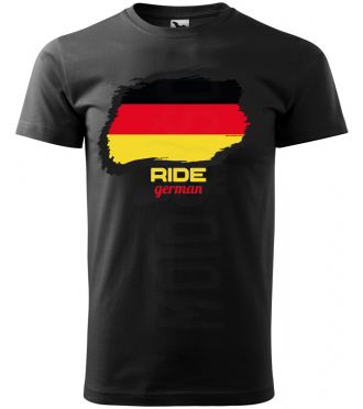 ride german panske moto tricko kratky rukav cierne