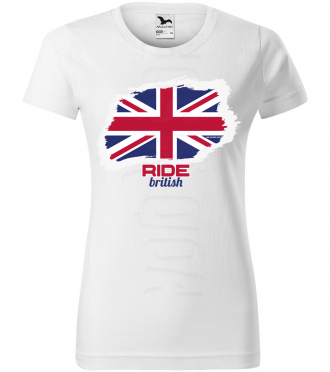 ride british damske moto tricko kratky rukav biele
