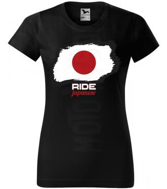 ride japanese damske moto tricko kratky rukav cierne