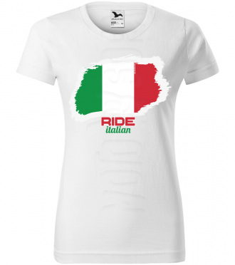 ride italian damske moto tricko kratky rukav biele