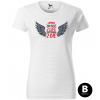 too fast with wings damske moto tricko kratky rukav biele