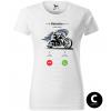 hovor od motorky chopper biker damske moto tricko kratky rukav biele