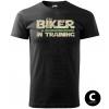 biker in training green sword panske moto tricko kratky rukav cierne