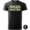 master biker green sword panske moto tricko kratky rukav cierne