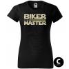 master biker yellow sword damske moto tricko kratky rukav cierne