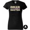 master biker pink sword damske moto tricko kratky rukav cierne