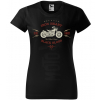 iron heart black blood bikers damske moto tricko kratky rukav cierne