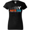 moto evolution damske moto tricko kratky rukav cierne