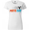 moto evolution damske moto tricko kratky rukav biele