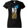 no plans no limits no rules damske moto tricko kratky rukav cierne