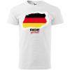ride german panske moto tricko kratky rukav biele