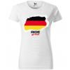 ride german damske moto tricko kratky rukav biele