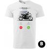 hovor od motorky supersport panske moto tricko kratky rukav biele
