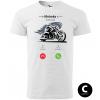 hovor od motorky chopper biker panske moto tricko kratky rukav biele