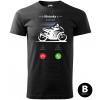 hovor od motorky supersport panske moto tricko kratky rukav cierne
