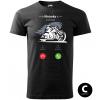 hovor od motorky chopper biker panske moto tricko kratky rukav cierne