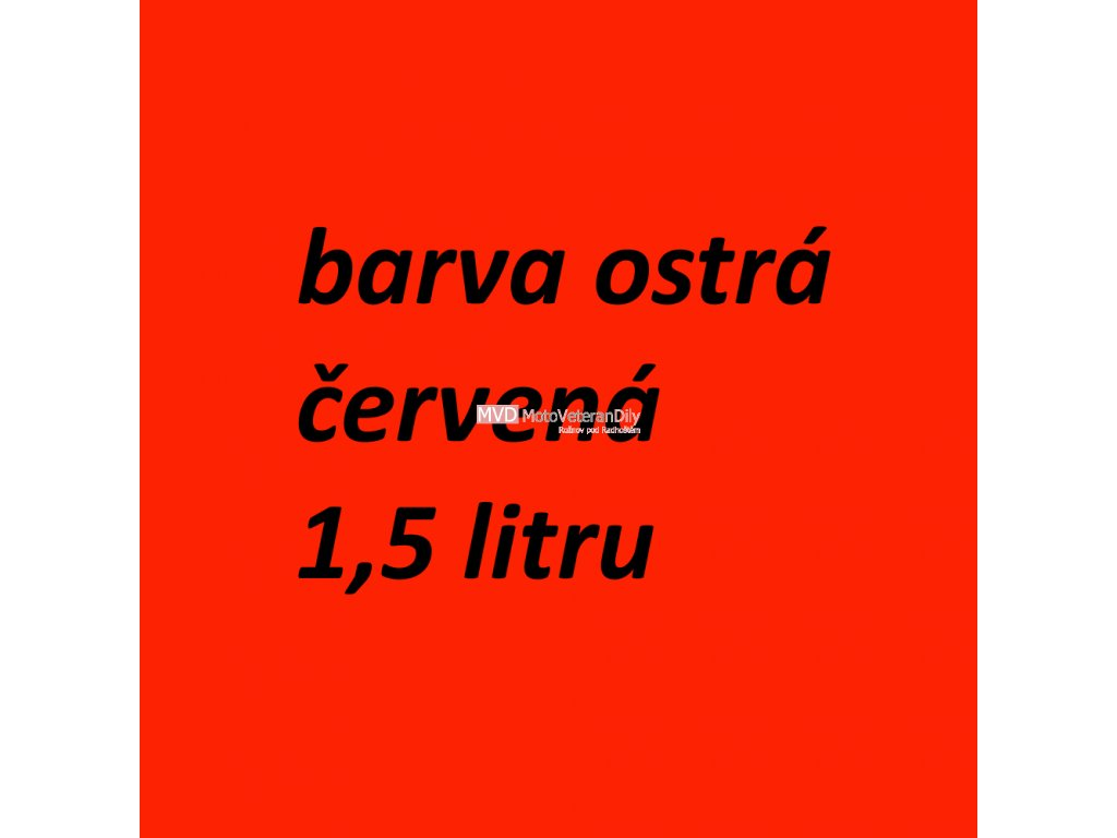 Barva - Jawa Červená RAL3020 1,5 litru MOBIHEL - (ostrá červená - lesklá)