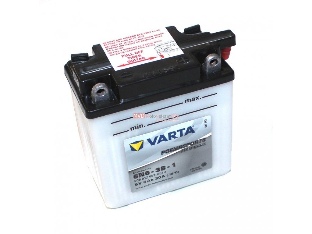 Baterie Varta 6V 6Ah s náplní