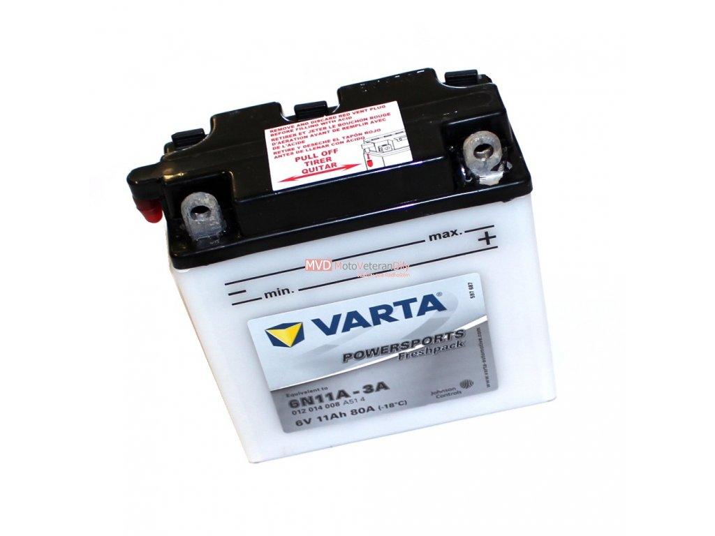 Baterie Varta 6V 11Ah s náplní